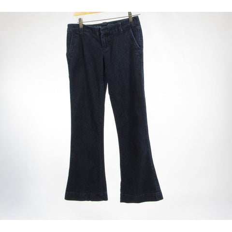 Dark rinse cotton blend THE LIMITED 678 stretch flare jeans 4