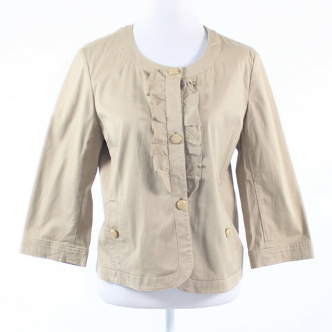Beige cotton blend TALBOTS 3/4 kimono sleeve jacket 14P