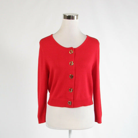 Red cotton blend MARVIN RICHARDS 3/4 sleeve bolero sweater L-Newish