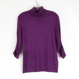 Purple NEW YORK and COMPANY turtleneck knit blouse S