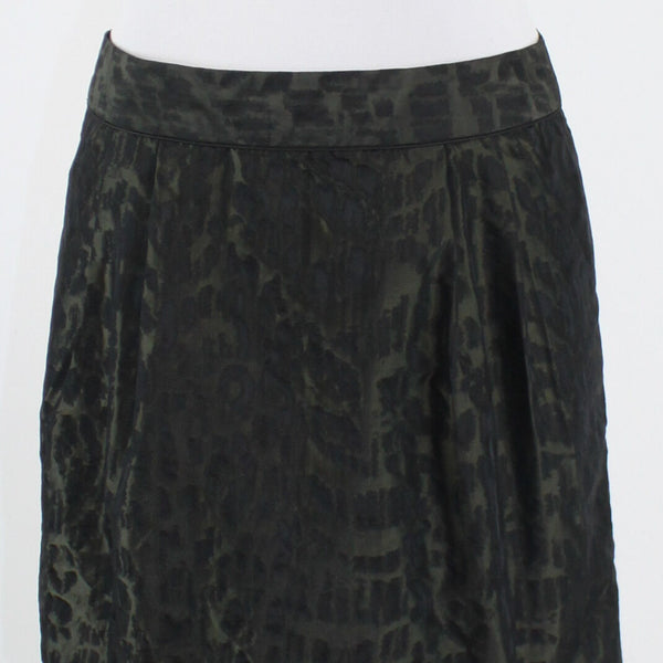 Black brown cheetah GAP mini above knee skirt 6