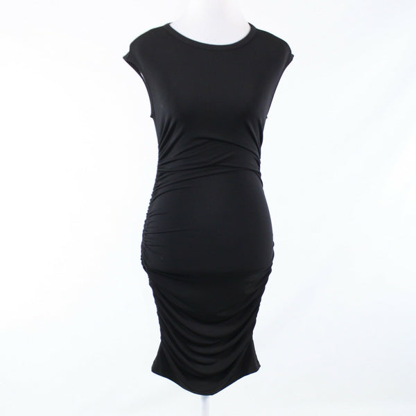 Black CATHERINE MALANDRINO stretch sleeveless bodycon dress S-Newish