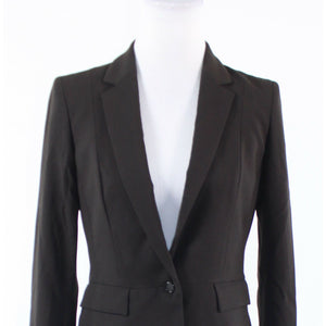 Dark brown TAHARI long sleeve blazer jacket 6 42