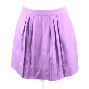 Purple 100% silk J. CREW pleated skirt 8