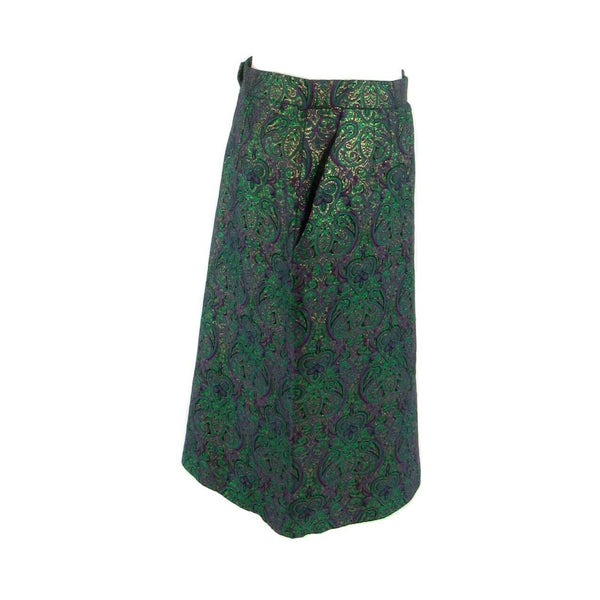 Green purple geometric EVAN-PICONE pencil skirt 12P M