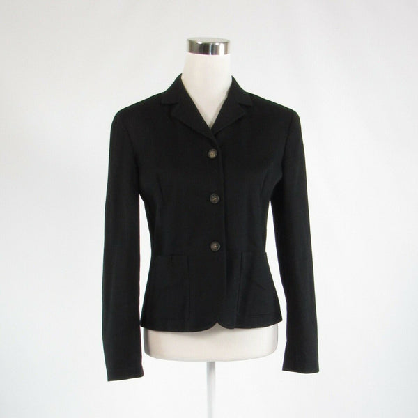 Black cotton blend TALBOTS stretch long sleeve jacket blazer 6