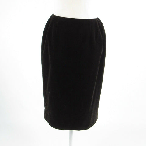 Black velvet CARLISLE pencil skirt 4