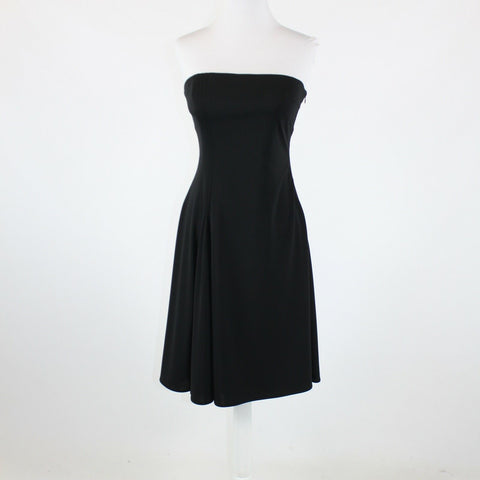 Black WHITE HOUSE BLACK MARKET strapless knee-length A-line dress 4