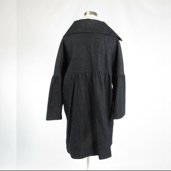 Charcoal gray 100% cotton VIAN HUNTER bell sleeve coat L NWOT