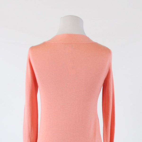 Light pink 100% cotton ANN TAYLOR LOFT knotted chest 3/4 sleeve sweater XS