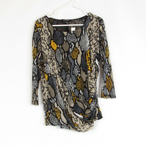 Black beige ETCETERA blouse XL