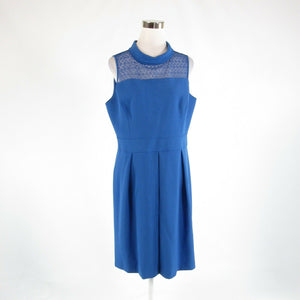 Blue ANNE KLEIN stretch sleeveless A-line dress 14 NWT $119.00-Newish