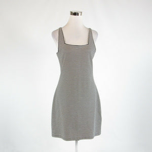 White black striped 100% cotton KATE SPADE Saturday sleeveless sheath dress M-Newish