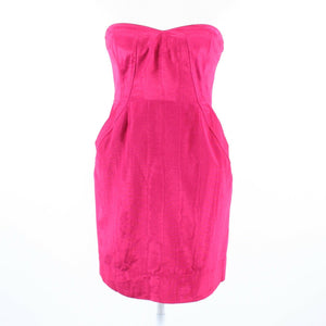 Fuchsia pink REBECCA TAYLOR strapless sheath dress S