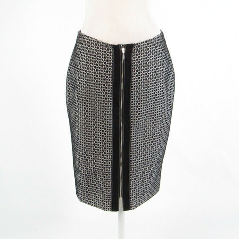 Black white geometric DONCASTER COLLECTION pencil skirt 4-Newish