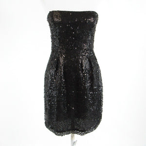 Black BCBG MAX AZRIA sequin strapless sheath dress 4 NWT $258.00