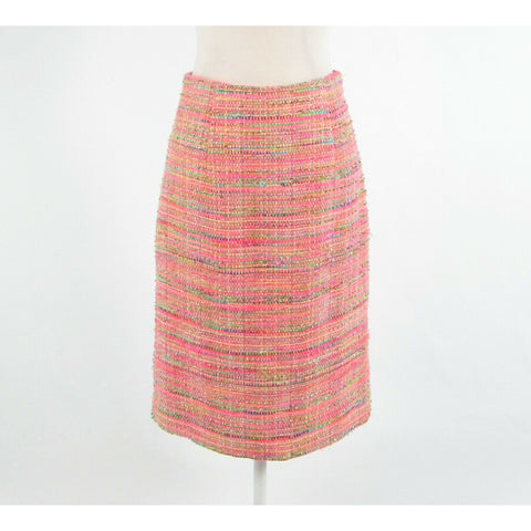 Multicolor pink textured ISAAC MIZRAHI pencil skirt 8