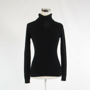 Black 100% cashmere BETH BOWLEY long sleeve turtleneck sweater S