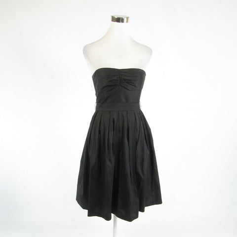 Black 100% silk TRINA TURK strapless A-line dress 2-Newish