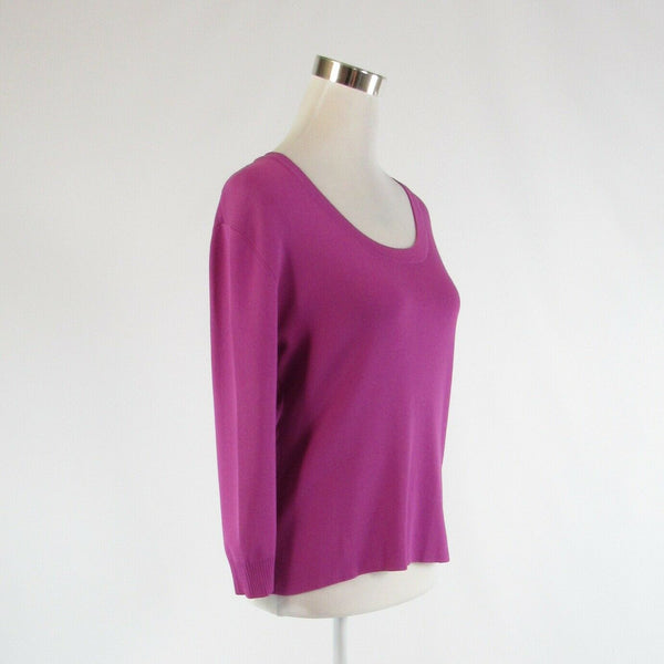 Orchid purple JOSEPH A. stretch 3/4 sleeve knit blouse XL-Newish
