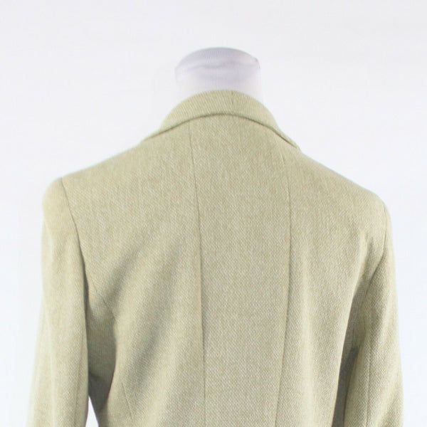 Stone gray double breasted wool blend RENA LANGE long sleeve jacket GR38 10