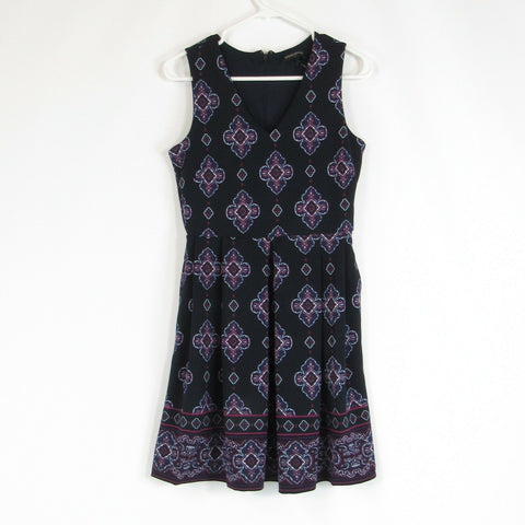 Black purple BANANA REPUBLIC A-line dress 2