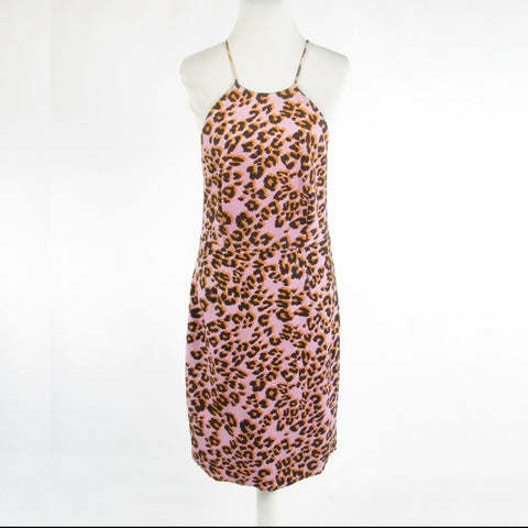 Lavender purple orange cheetah TALULAH spaghetti strap sun dress L