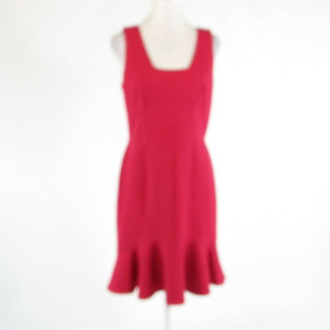 Red ANN TAYLOR stretch sleeveless sheath dress 6-Newish