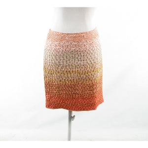 Light orange pink floral print 100% linen HD IN PARIS embroidered pencil skirt 4