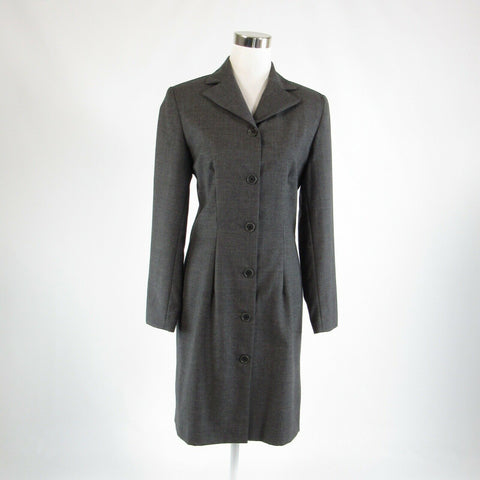 Gray 100% wool BARNEYS NEW YORK long sleeve peacoat 8