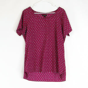 Dark pink black BANANA REPUBLIC blouse L