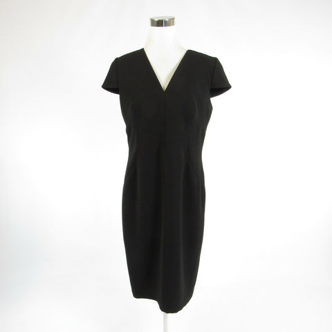 Black FRASCARA cap sleeve sheath dress 12