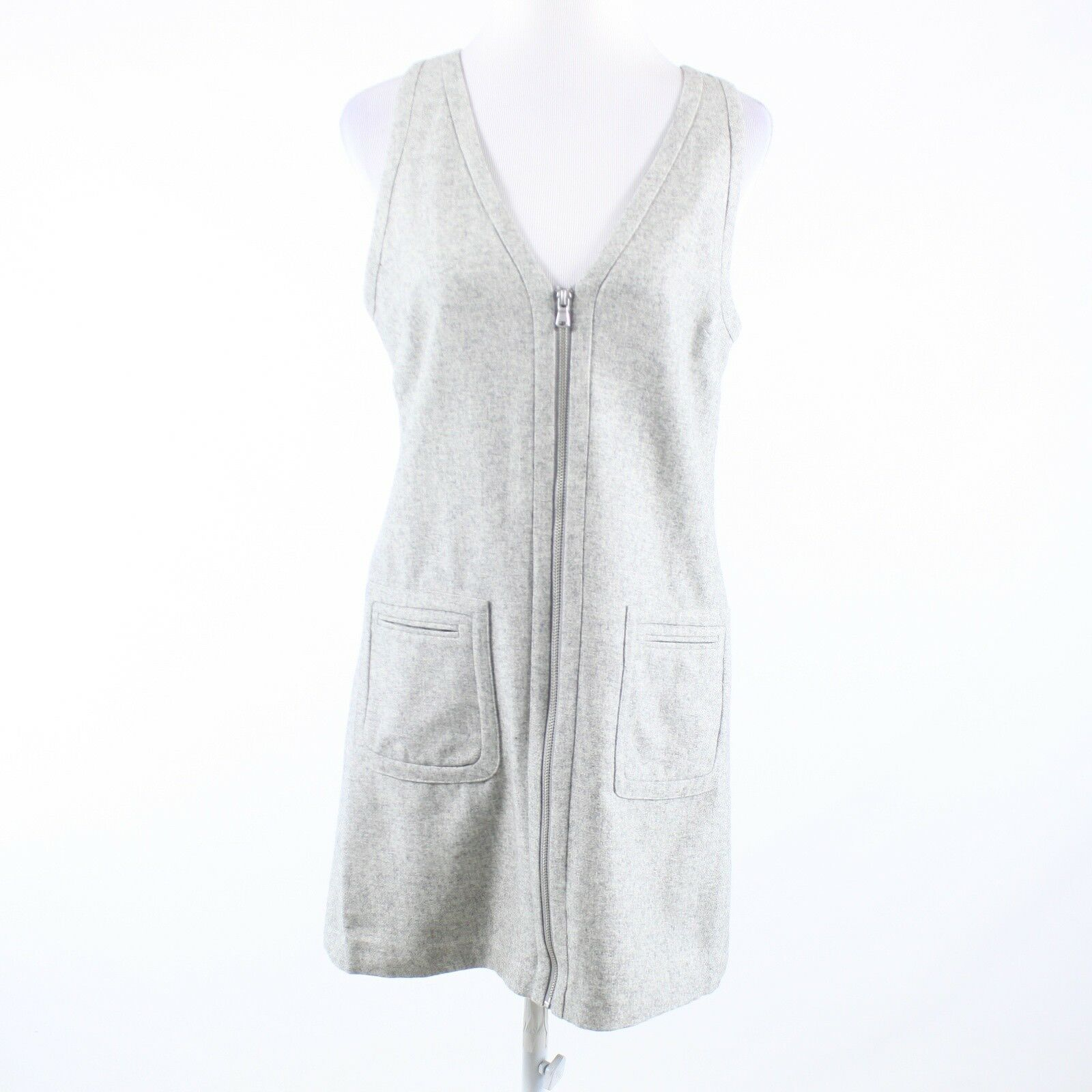 Heather gray wool blend MINT VELVET sleeveless sheath dress 10 38 NWT $136.18-Newish