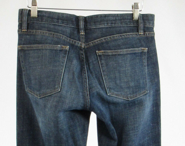 Dark rinse cotton blend J. CREW bootcut jeans 6
