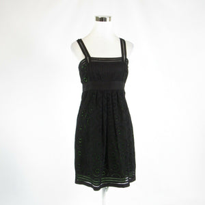 Black eyelet CYNTHIA STEFFE sleeveless A-line dress 6-Newish