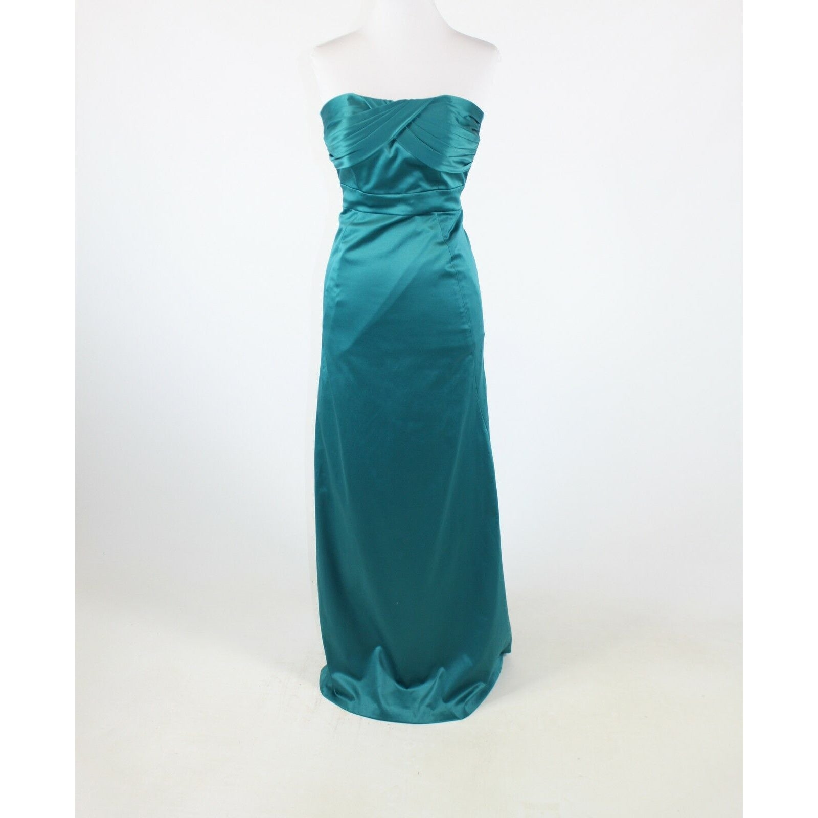 Teal green stretch BCBGENERATION strapless sweetheart ball gown 2