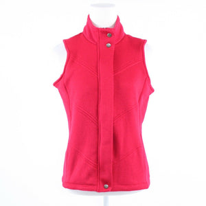 Red COLDWATER CREEK sleeveless zip front vest OS One Size-Newish