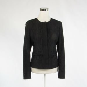 Black textured TAHARI long sleeve jacket 8 44-Newish