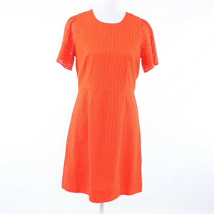 Orange eyelet J. CREW short sleeve A-line dress 8