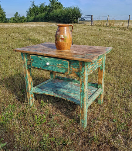 French 19th Century Scullary Table Made From Pine - Dusty Gems Interiors