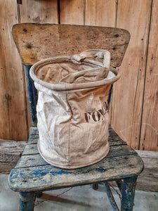 French Rustic Linen Bucket