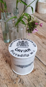 FORTNUM & MASON CAVIAR POT antique