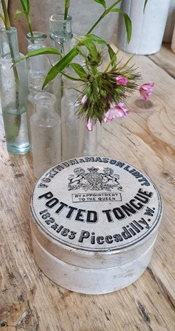 Fortnum and Mason potted tongue pot country kitchen decorative antique