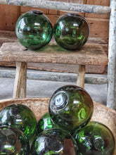 Load image into Gallery viewer, Vintage French Glass Fishing floats french country beach house seaside home vintage glass