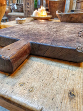 Load image into Gallery viewer, French Antique farmhouse Oak chopping board. French country kitchen sourdough bread brie cheese farmhouse kitchen ideas dusty gems interiors Nantwich