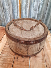 Load image into Gallery viewer, Antique Primitive Wagon Water Canteen French country country kitchen  cottage core cottage style rustic