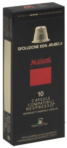 Musetti 100% Arabica Nespresso® compatible capsules - pack of 10