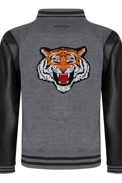 Varsity Jacket Tiger (Dark grey- Sky Black)