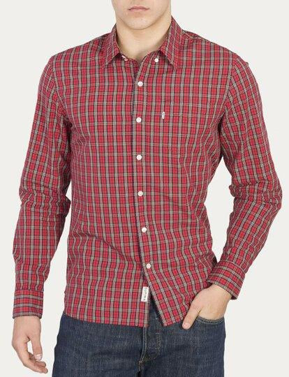 Camicia Levi's Classıc Sunset 1 Pocket Shırt  Red Yellow White