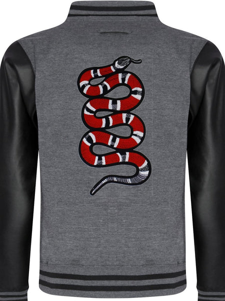Varsity Jacket Snake (Dark grey- Sky Black)